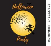 halloween party invitation... | Shutterstock .eps vector #1412227826