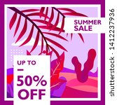 summer sale 50  discount with...   Shutterstock .eps vector #1412237936