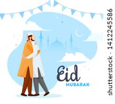 beautiful poster and banner... | Shutterstock .eps vector #1412245586