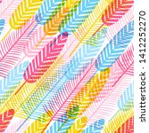 seamless pattern with color... | Shutterstock .eps vector #1412252270