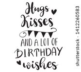 hugs kisses and a lot of... | Shutterstock .eps vector #1412260583