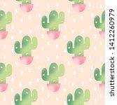 cute watercolor seamless... | Shutterstock . vector #1412260979