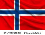 Silk National Flag Of Norway...