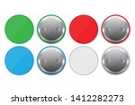 colored button pins vector... | Shutterstock .eps vector #1412282273