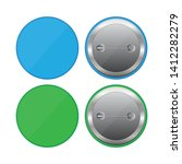 colored button pins vector... | Shutterstock .eps vector #1412282279
