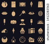 executive chef icons set.... | Shutterstock .eps vector #1412283563