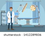 surgeon in operating room flat... | Shutterstock .eps vector #1412289836