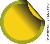 folded round label. golden... | Shutterstock .eps vector #1412295440