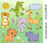 set of cartoon animals | Shutterstock .eps vector #141229819