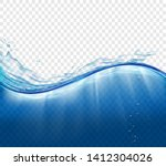 water surface with waves and... | Shutterstock .eps vector #1412304026