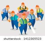 vector illustration of smiling...   Shutterstock .eps vector #1412305523