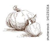 hand drawn illustration of... | Shutterstock .eps vector #141231316