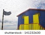 black shark warning flag... | Shutterstock . vector #141232630