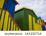 colourful huts on muizenberg... | Shutterstock . vector #141232714
