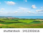 beautiful landscape of the coast between Calais and Boulogne-sur-Mer