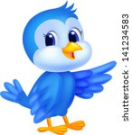 Stock photo blue bird cartoon 141234583