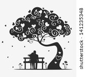 illustration magic tree with a... | Shutterstock .eps vector #141235348