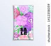 floral summer poster for sale... | Shutterstock .eps vector #1412358359