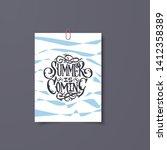 floral summer poster for sale... | Shutterstock .eps vector #1412358389