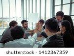 celebration   group of business ... | Shutterstock . vector #1412367359