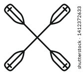crossed kayak paddle icon.... | Shutterstock .eps vector #1412372633