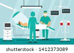 surgeons operating concept... | Shutterstock .eps vector #1412373089