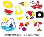 summer holiday 2 | Shutterstock .eps vector #141238900