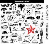 big doodle set   war | Shutterstock .eps vector #141240739