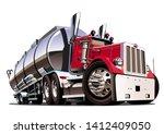 cartoon semi tanker truck...   Shutterstock .eps vector #1412409050