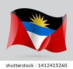 flag of antigua and barbuda | Shutterstock .eps vector #1412415260