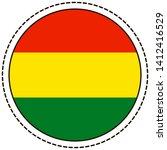 bolivia flag sticker on white... | Shutterstock .eps vector #1412416529