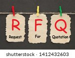 request for quotation rfq ... | Shutterstock . vector #1412432603