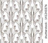 Ornamental Tulips Pattern.
