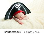 Sleeping Newborn Baby In A...