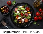 Fresh Greek Salad With Tomato ...