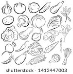 set of vegetables. collection... | Shutterstock .eps vector #1412447003