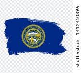 flag of  nebraska from brush...