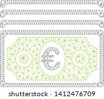 mesh euro banknotes model icon. ... | Shutterstock .eps vector #1412476709