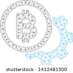 mesh bitcoin options cog model... | Shutterstock .eps vector #1412481500