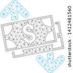 mesh banknotes spending model... | Shutterstock .eps vector #1412481560