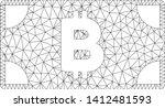 mesh bitcoin cash banknote... | Shutterstock .eps vector #1412481593