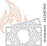 mesh banknotes fire disaster... | Shutterstock .eps vector #1412487503