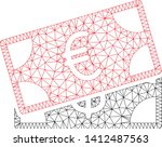 mesh banknotes model icon. wire ... | Shutterstock .eps vector #1412487563