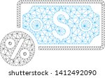 mesh banknote percent model... | Shutterstock .eps vector #1412492090