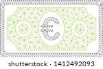 mesh euro banknote model icon.... | Shutterstock .eps vector #1412492093