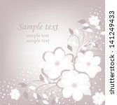 wedding card or invitation with ... | Shutterstock .eps vector #141249433