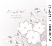 wedding card or invitation with ... | Shutterstock .eps vector #141249439