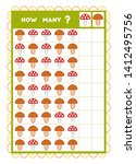 counting game  educational game ... | Shutterstock .eps vector #1412495756