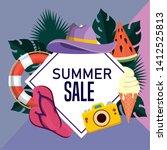 label of summer sale poster...   Shutterstock .eps vector #1412525813