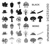 forest and nature black icons... | Shutterstock . vector #1412531450